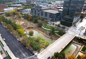 Gene Leahy Mall still a mud hole, but its trees will glow