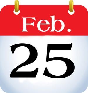 Feb. 25