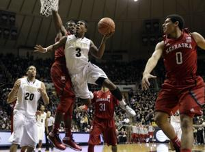 Huskers run out of steam late in losing to Boilermakers
