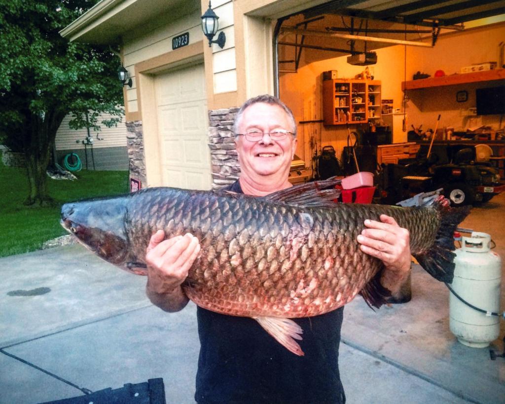 Blair 39 s uhing making habit of landing record fish omaha for The fish omaha