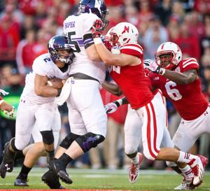 Nebraska's Josh Banderas has background as man in the middle