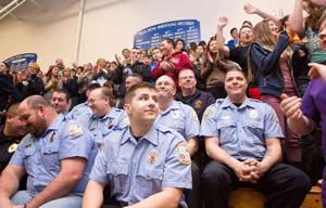 Plattsmouth students' tribute — and $1,400 gift — turn tough firefighters into teary-eyed softies