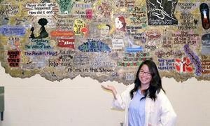 Students turn graffiti into mural at high school's Johnny Carson Theatre