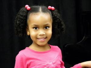 For Bellevue 4-year-old, first goal's to be a pianist, then princess