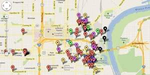 Downtown Omaha event map
