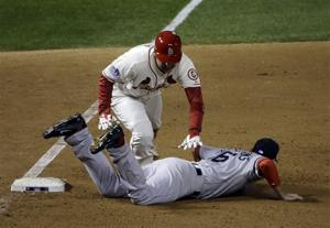 Obstruction call gives Cardinals 5-4 win in Game 3