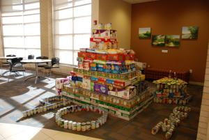 College of St. Mary collects food for Catholic Charities' food pantry