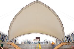 Pavilion takes shape at Midtown Crossing's Turner Park