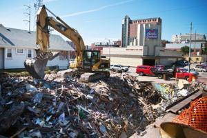 Demolition complete on thrift store building damaged in fatal car wreck