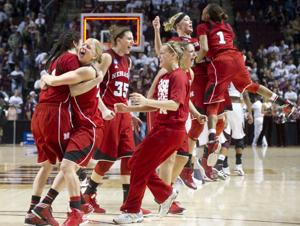 Moore, Hooper star as Huskers reach Sweet 16 for 2nd time