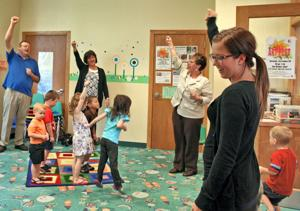 The first chapter UNO students get look at how children engage with reading at Sump Memorial Library