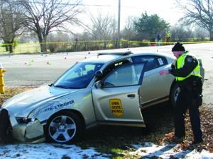 Iowa State Patrol pursuit ends with rollover in Bluffs