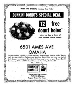 What do you remember about Dunkin' Donuts in Omaha?