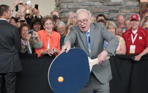 Ping-Pong player will beat Buffett at her own game