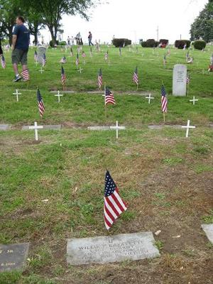 1,200 flags, crosses in remembrance at Mount Hope Cemetery