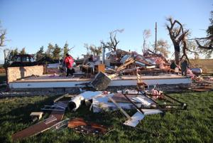Wayne, Neb., turns focus to cleanup the day after tornado