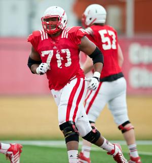 Youth movement on the Husker offensive line