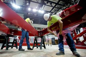 Devaney Center adds ceiling trusses, subtracts seats in $20 million renovation