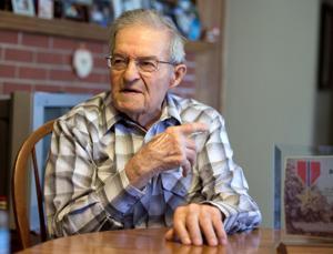 WWII veteran Bud Parker awarded Bronze Star in Red Oak, Iowa