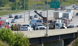 Pileup on Interstate 80 snarling eastbound travel