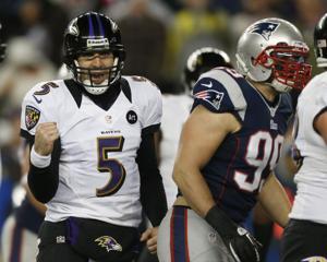 Ravens upset Patriots to face San Francisco in Super Bowl