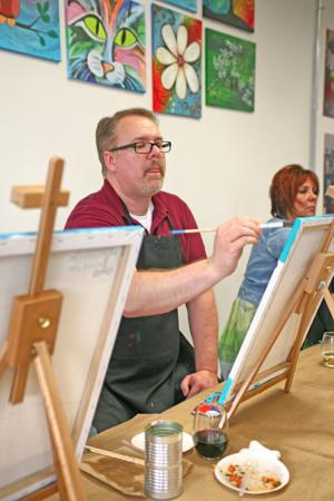 Paint studio offers fun for adults, children