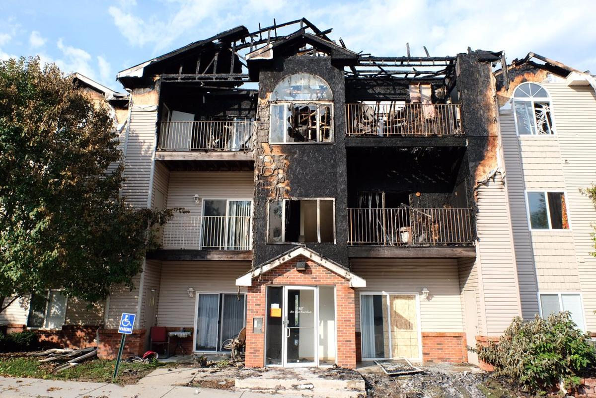 Gateway Park Apartments aftermath. Firefighter  2 others injured as roof collapses at Bellevue