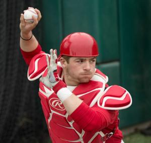 Huskers catcher Fish more than happy to get feet wet