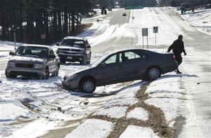 Snow, ice send South's flagship city reeling