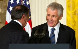 Defense industry gave little to Chuck Hagel