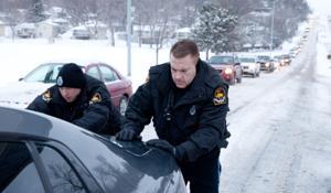 Blowing snow makes for a treacherous commute