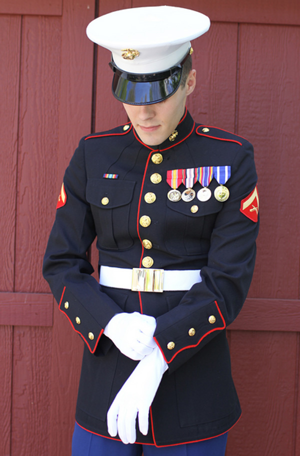 The gallery for --> Marines Dress Blues Wedding