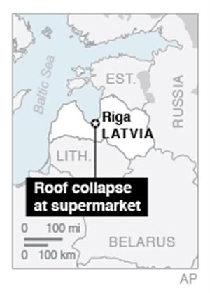 51 dead in grocery roof collapse in Latvia