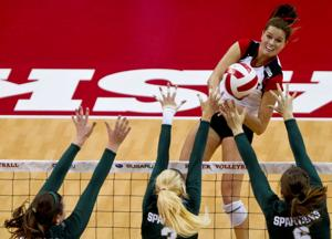 Robinson, Huskers hammer Spartans for seventh straight win