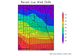 Nancy's Almanac, Jan. 4-6, 2014: Wind chill map