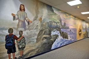 School's new mural tells story of St. Columb