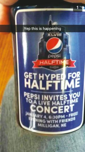 Lee Brice performs in Milligan for Super Bowl halftime promo