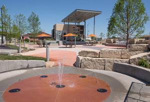 New Papillion plaza is making a splash: Park takes place of seldom-used parking lot