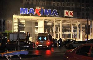 6 dead after roof collapse at Latvian store