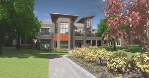 Groundbreaking today for senior living with day spa, movie theater, gardening