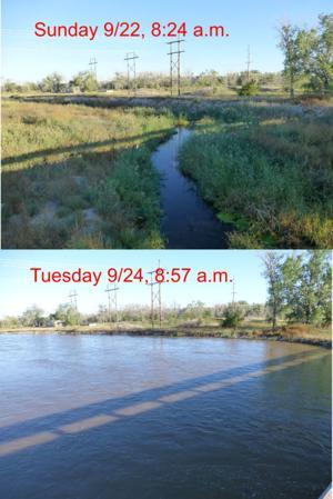 Nancy's Almanac, Sept. 28, 2013: Platte surge moves east
