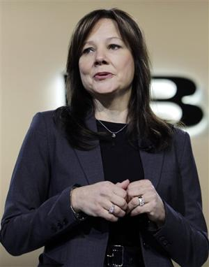 GM names Mary Barra CEO; first woman to head major U.S. car company