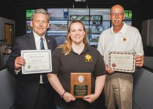 Pottawattamie County dispatcher honored for saving heart patient