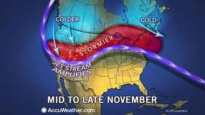Nancy's Almanac, Nov. 7, 2013: Rainy, snowy weather continues?