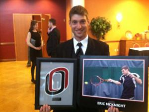 McKnight is UNO's leader in doubles wins
