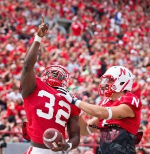 Nebraska's extra running back punch is a right Cross