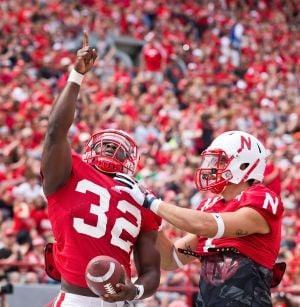 Nebraska's extra running back punch is a right Cross