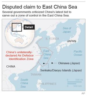 US bombers cross China's claimed air defense zone