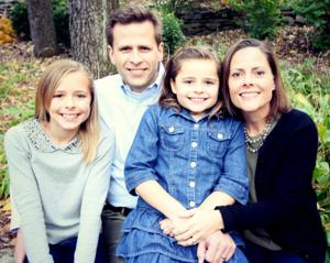 Grace: Pete Festersen says political ambition takes back seat to family