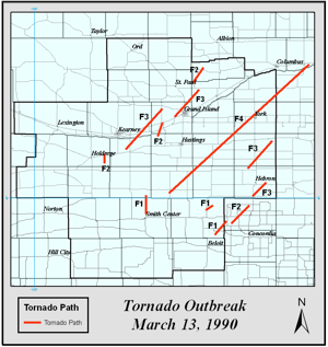 Nancy's Almanac, March 19, 2014: Nebraska's longest-lived tornado hit in March 1990